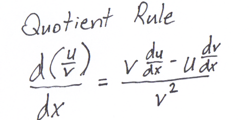 quotient rule formula. There is another rule I have
